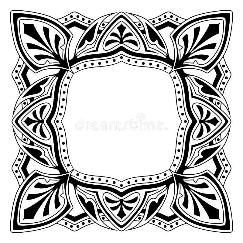 Pagina con il disegno ornamentale royalty illustrazione gratis