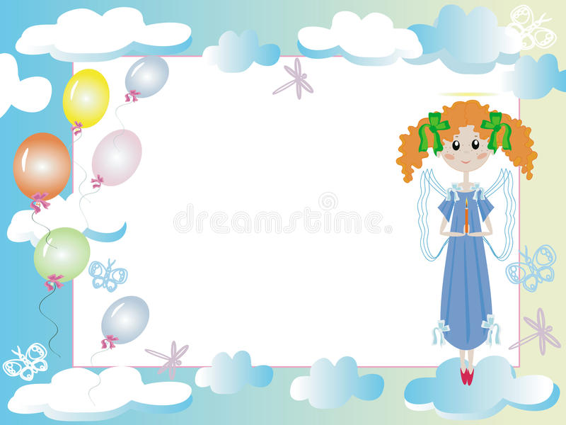 Pagina con l'angelo royalty illustrazione gratis