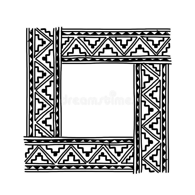 Pagina con l'ornamento fatto a mano etnico per il vostro illustrazione vettoriale