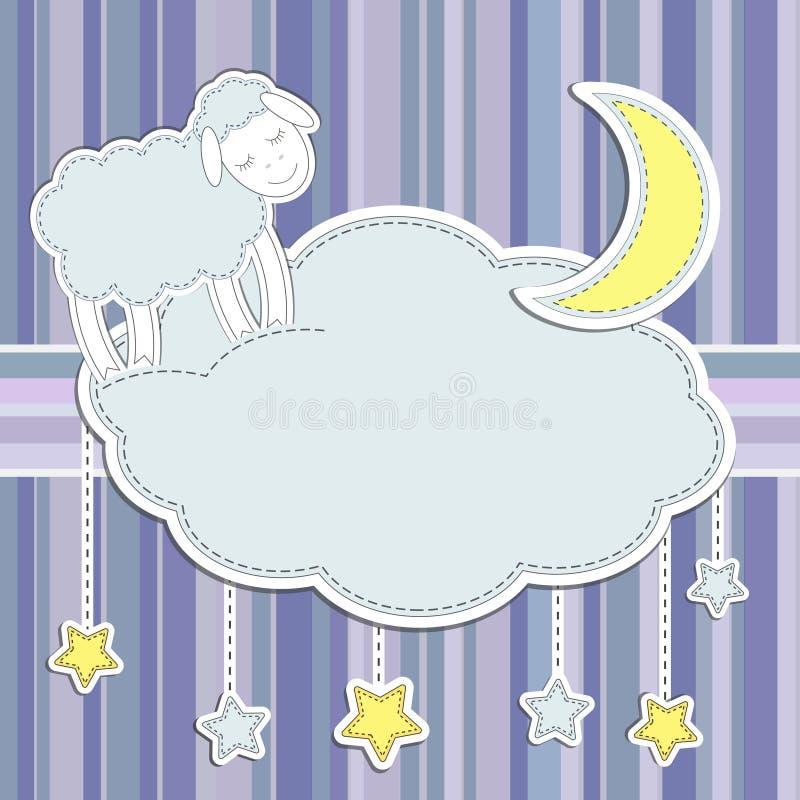 Pagina con le pecore sveglie illustrazione vettoriale