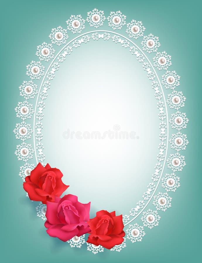 Pagina con le rose illustrazione di stock