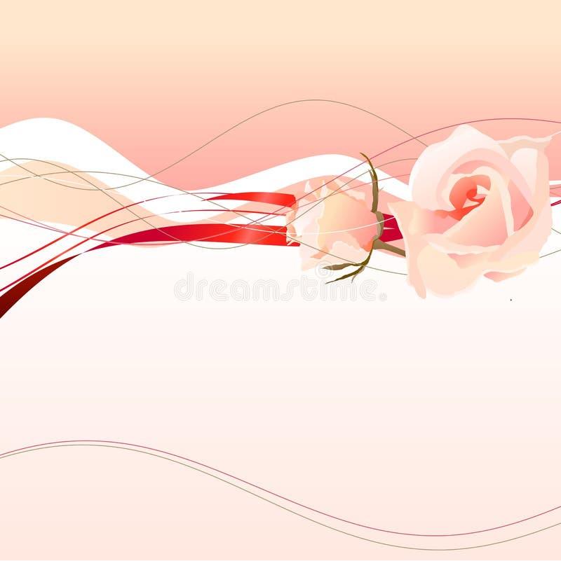 Pagina con le rose dentellare illustrazione di stock
