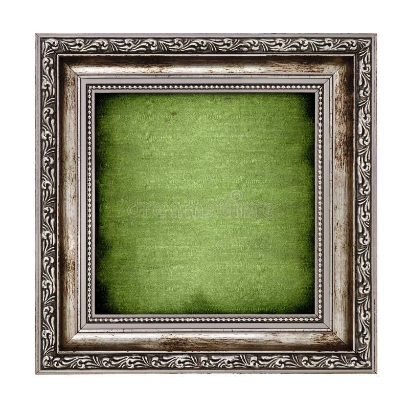 Pagina con tela verde immagine stock