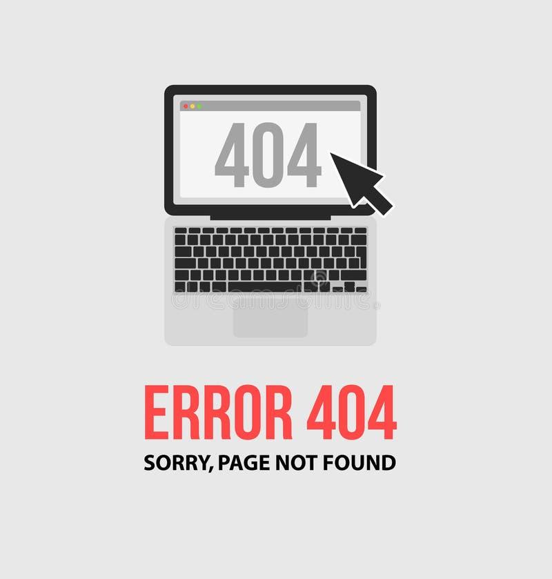 Pagina con un errore 404 illustrazione di stock