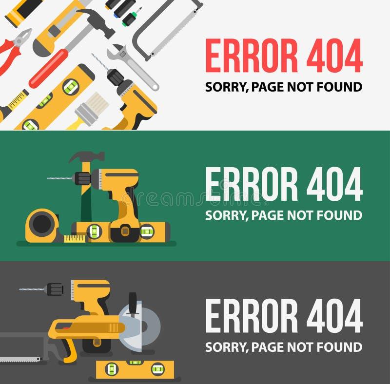 Pagina con un errore 404 royalty illustrazione gratis