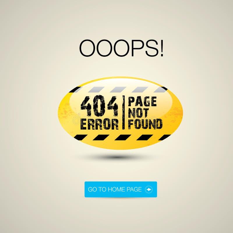 Pagina creativa non trovata, errore 404 illustrazione vettoriale