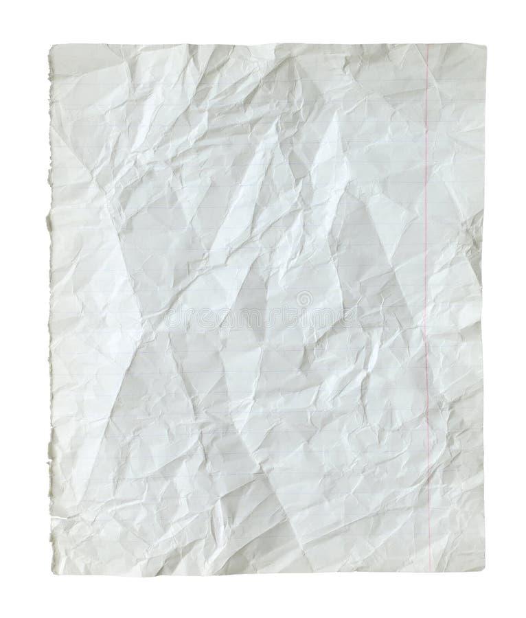 Pagina da un taccuino. fotografia stock