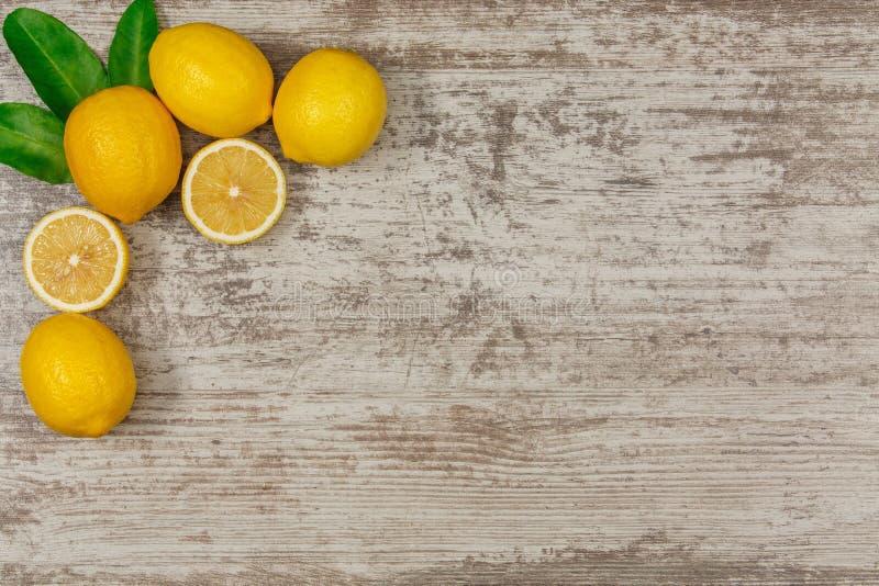 Pagina dai limoni fotografia stock libera da diritti