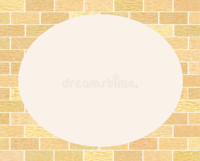 Pagina dal muro di mattoni con struttura graffiata, lerciume, muratura dei mattoni ordinari illustrazione vettoriale