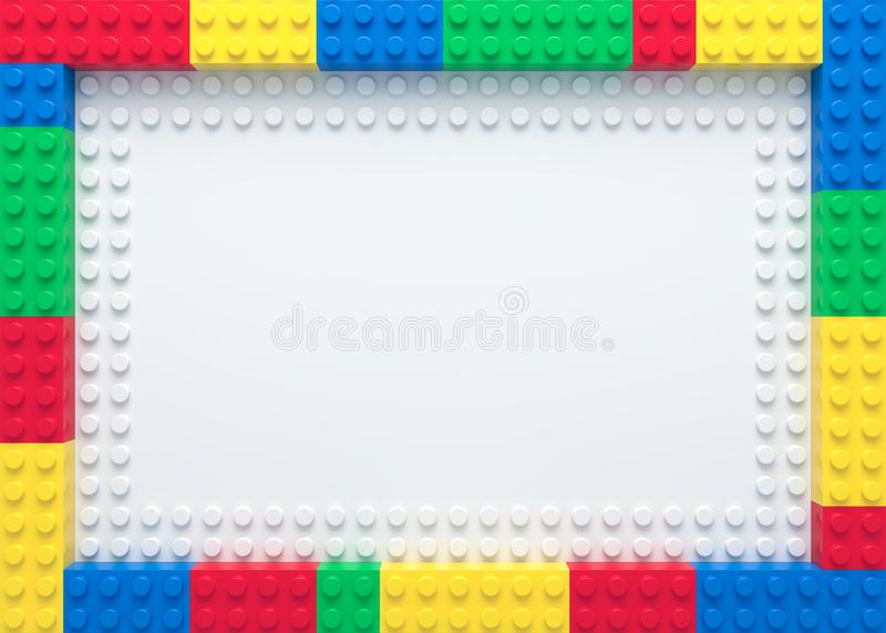 Pagina dei mattoni variopinti del giocattolo illustrazione di stock