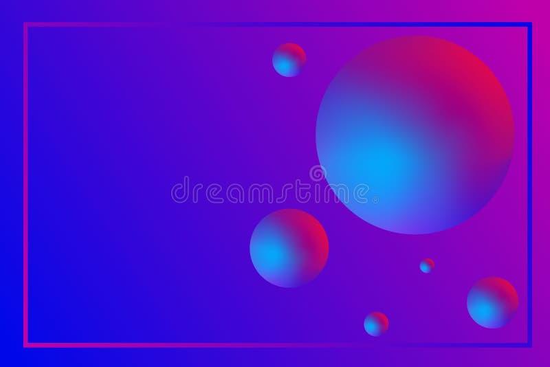 Pagina dei palloni colorati luminosi con una pendenza con lo spazio della copia illustrazione di stock