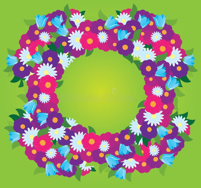 Pagina dei wildflowers illustrazione vettoriale