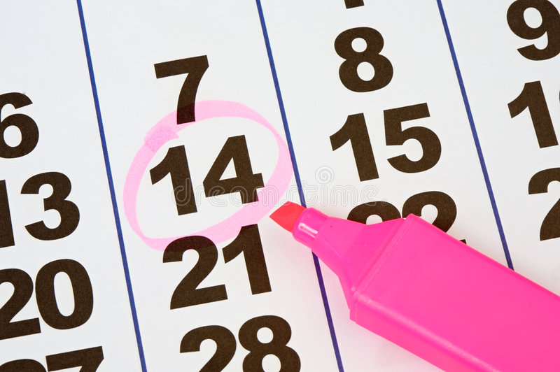 Pagina del calendario immagini stock libere da diritti