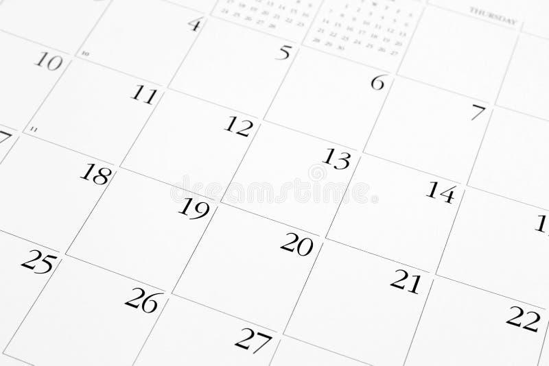 Pagina del calendario fotografia stock libera da diritti