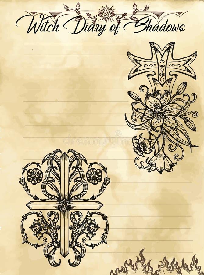 Pagina 29 del diario della strega di 31 royalty illustrazione gratis