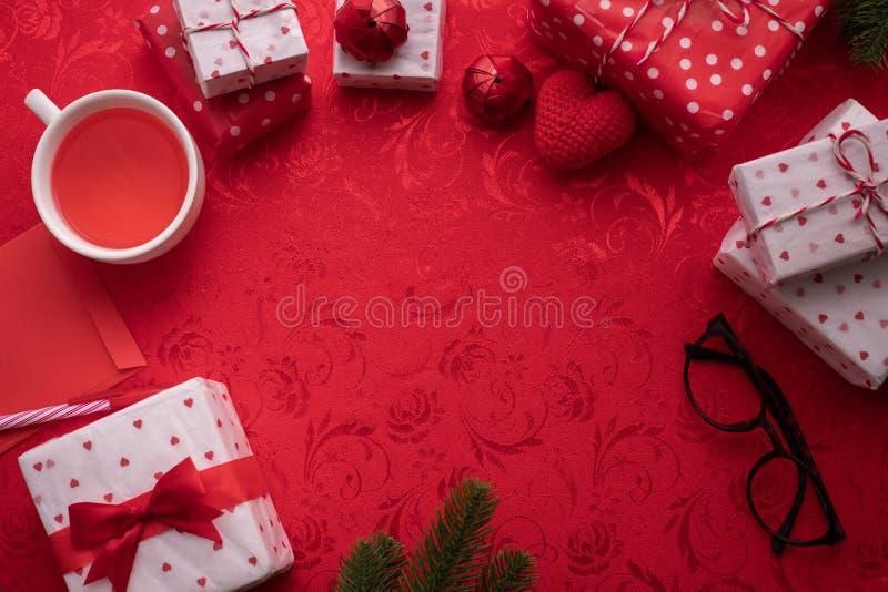 Pagina del fondo di celebrazione di San Valentino fotografia stock libera da diritti