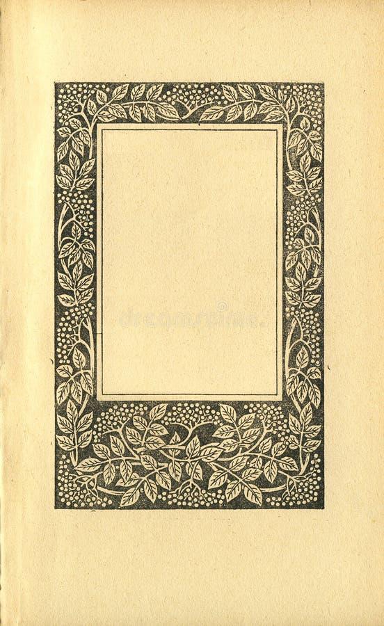 Pagina del libro dell'annata immagini stock libere da diritti