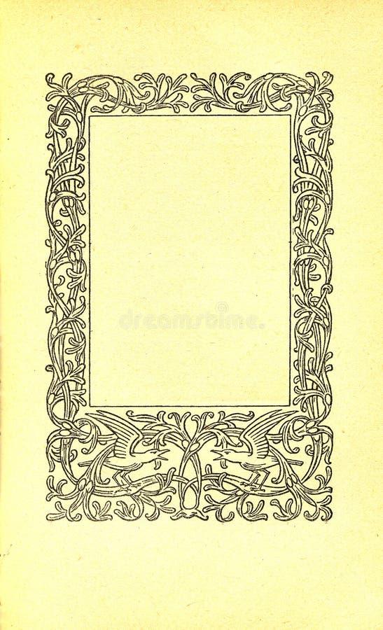 Pagina del libro dell'annata royalty illustrazione gratis