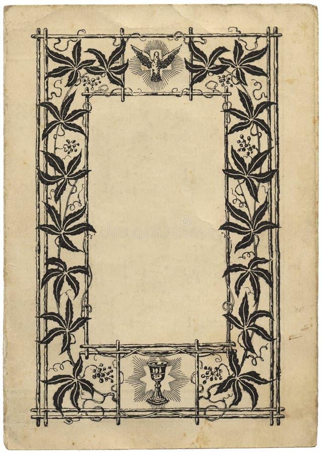 Pagina del libro dell'annata con un blocco per grafici illustrazione di stock