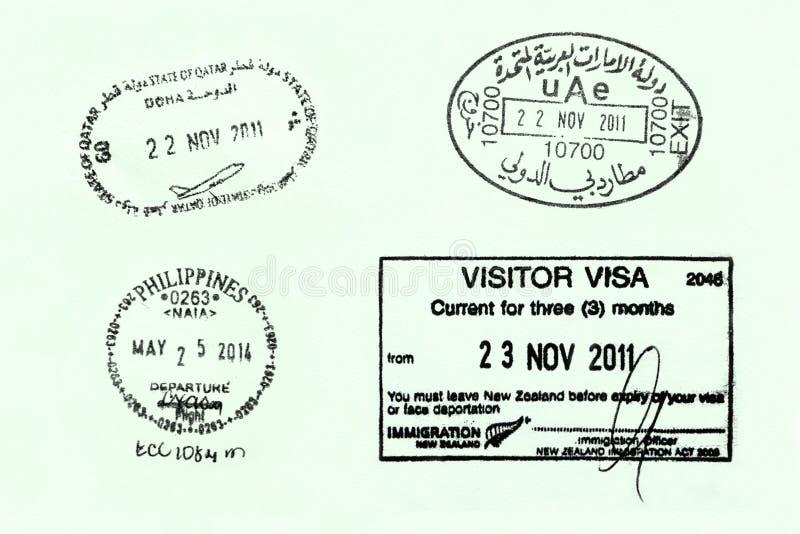 Pagina del passaporto fotografie stock libere da diritti