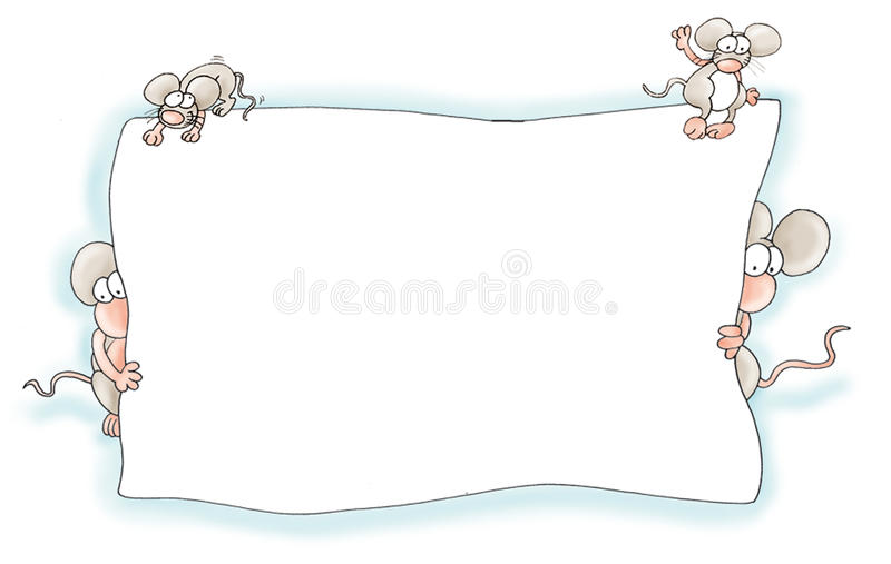 Pagina del topo illustrazione di stock