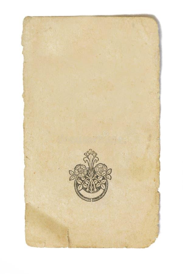 Pagina del vecchio libro fotografie stock