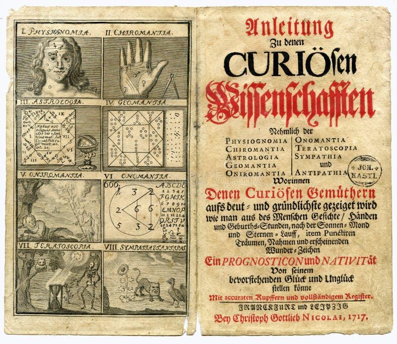 Pagina del vecchio libro a partire da 1717 fotografie stock