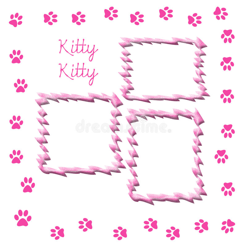 Pagina dell'album del gattino illustrazione di stock