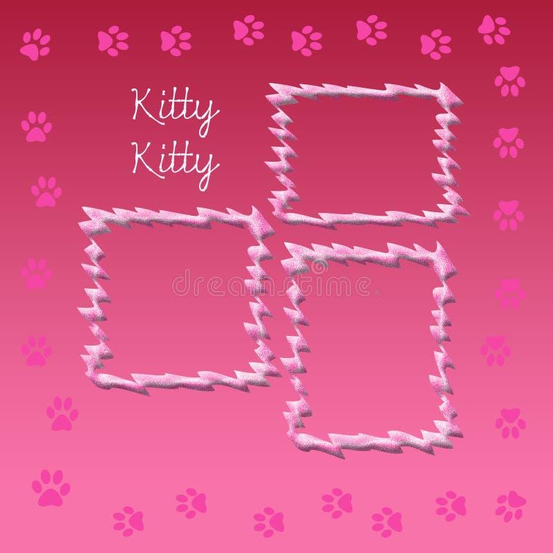 Pagina dell'album del gattino royalty illustrazione gratis