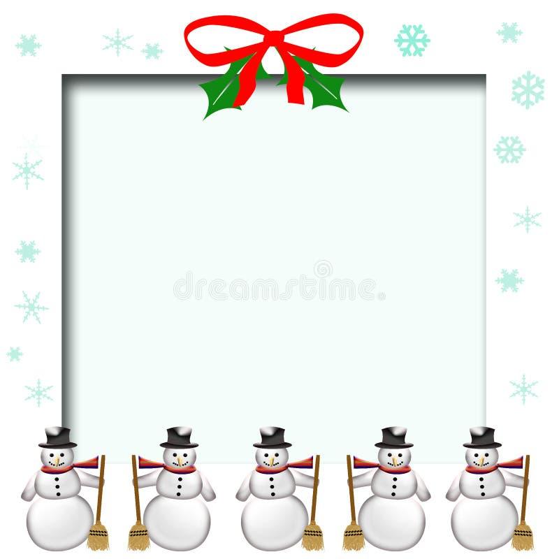 Pagina dell'album del pupazzo di neve illustrazione vettoriale