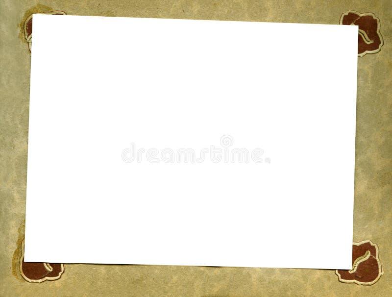 Pagina dell'album dell'annata immagine stock libera da diritti