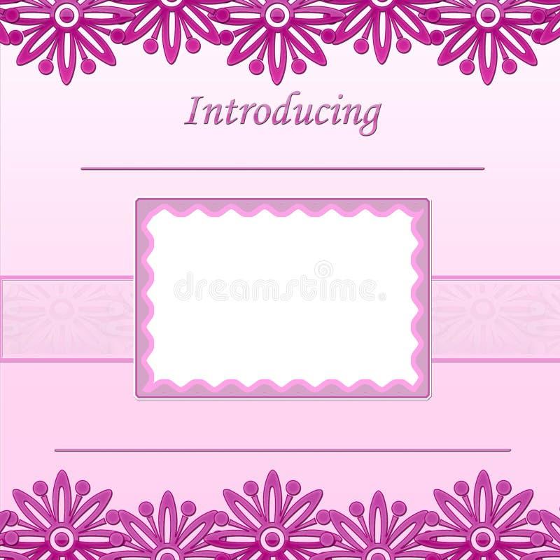 Pagina dell'album della neonata - annuncio di nascita - 1 illustrazione vettoriale