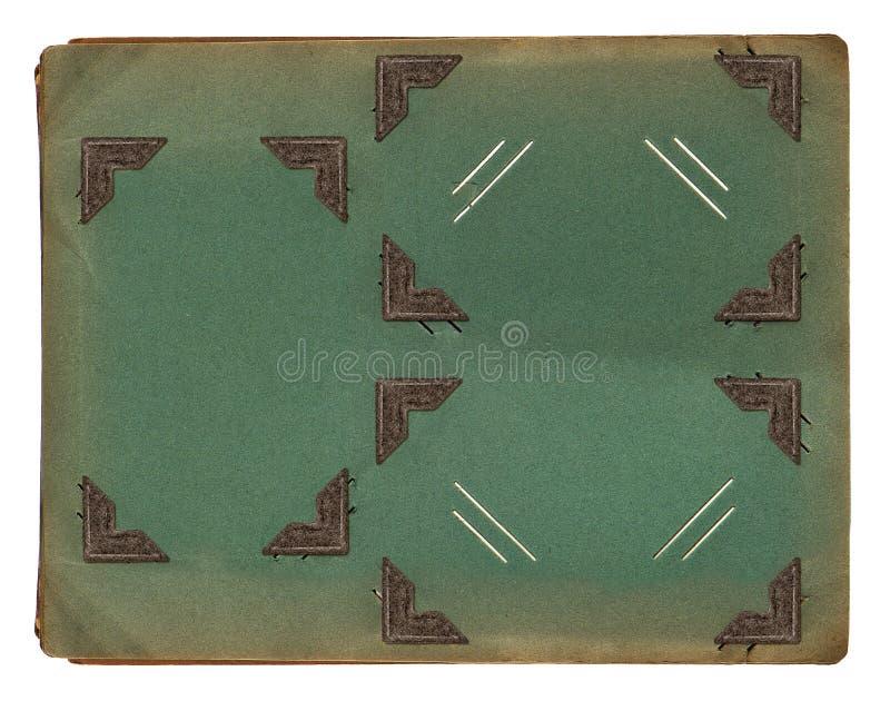 Pagina dell'album di foto d'annata con le strutture d'angolo fotografie stock