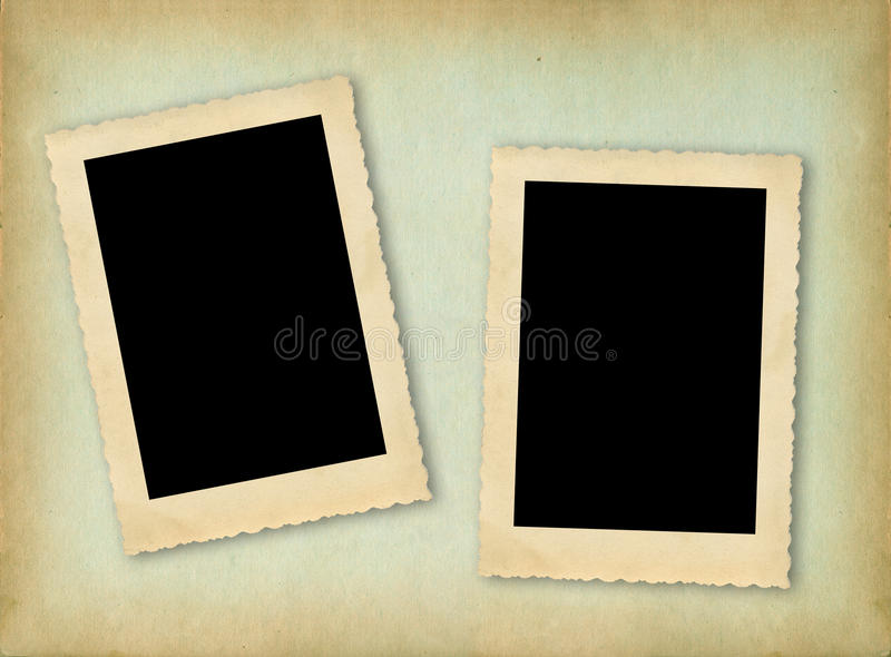 Pagina dell'album di foto dell'annata fotografia stock libera da diritti