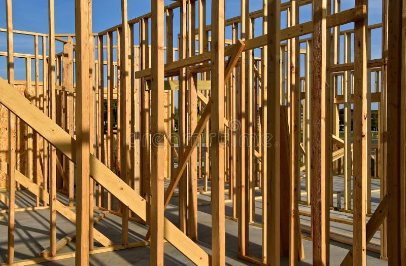 Pagina della costruzione ad un cantiere fotografia stock