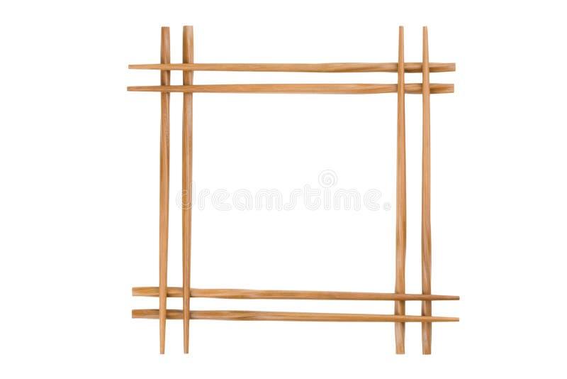 Pagina delle bacchette di bambù immagine stock libera da diritti