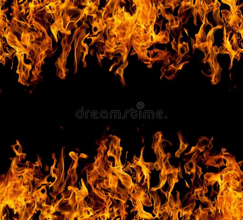 Pagina delle fiamme del fuoco immagini stock libere da diritti