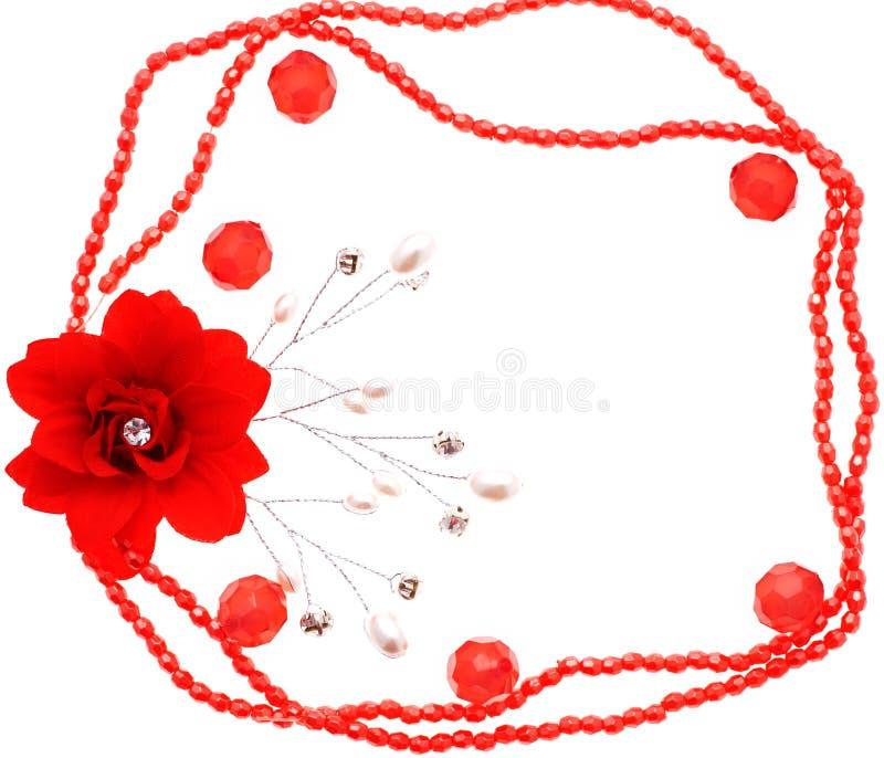 Pagina delle perle e del fiore fotografie stock