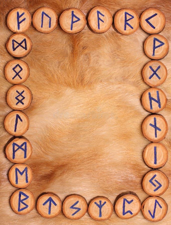 Pagina delle rune fotografie stock libere da diritti