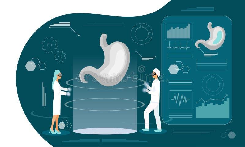 Pagina di atterraggio di gastroenterologia royalty illustrazione gratis