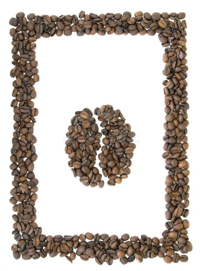 Pagina di caffè con il simbolo del caffè fotografia stock