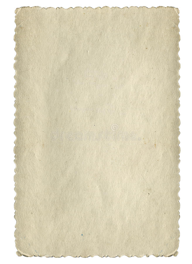 Pagina di carta d'annata fotografia stock libera da diritti