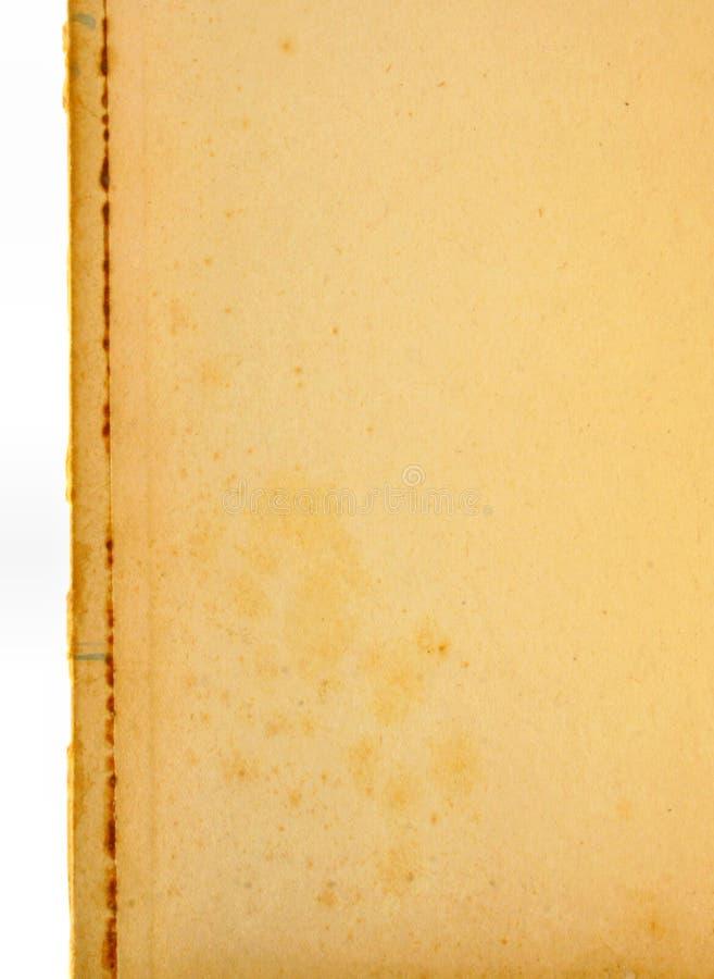 Pagina di carta invecchiata fotografia stock
