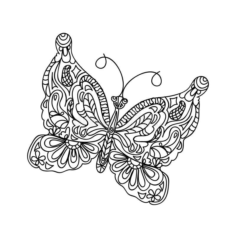 Pagina di coloritura della farfalla royalty illustrazione gratis