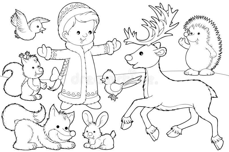 Pagina di coloritura di natale illustrazione di stock
