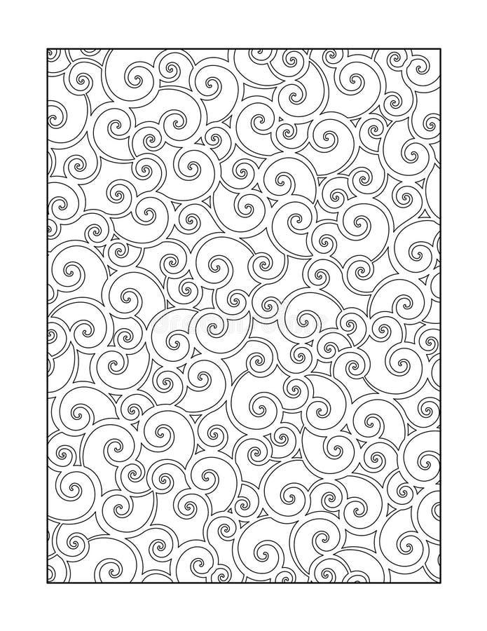 Pagina di coloritura per gli adulti, o fondo ornamentale in bianco e nero royalty illustrazione gratis