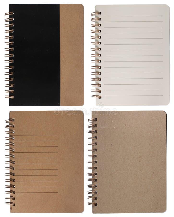 Pagina di destra del blocchetto per appunti del Brown fotografia stock