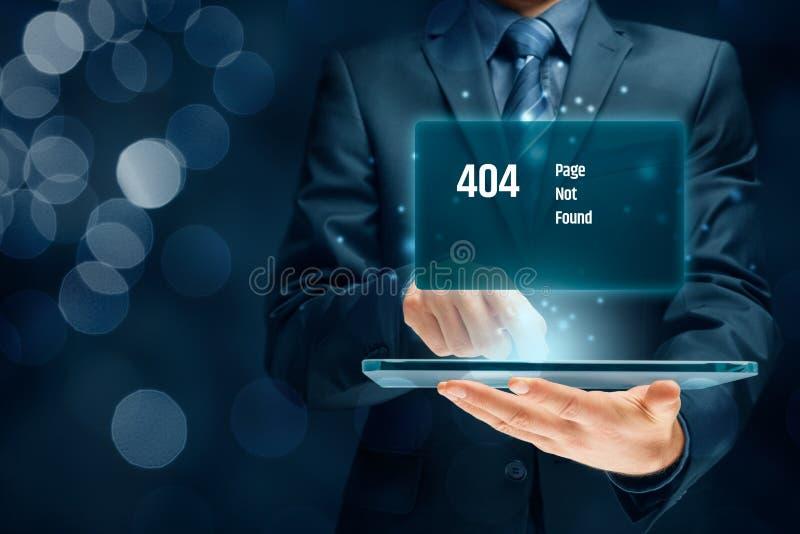 Pagina di errore del HTTP 404 fotografia stock libera da diritti
