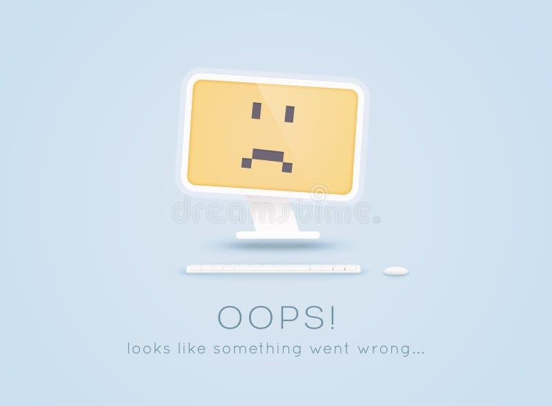 Pagina di errore 404 non trovata La pagina non ha trovato il testo oops Gli sguardi gradiscono qualcosa sono andato male Illustra royalty illustrazione gratis