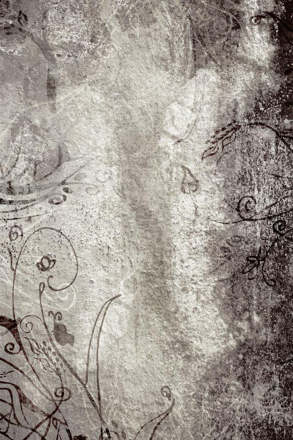 Pagina di Grunge con struttura ed i disegni royalty illustrazione gratis
